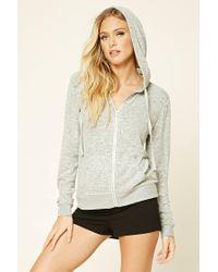 Forever 21 | Gray Fleece Zip-up Pyjama Hoodie | Lyst