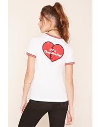 Forever 21 - Black Status Update Graphic Tee - Lyst
