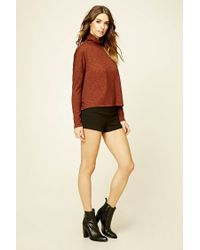 Forever 21 - Brown Contemporary Turtleneck Top - Lyst