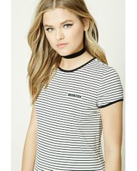 Forever 21 | Black Oui Oui Graphic Top | Lyst