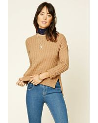 Forever 21   Natural Contemporary Ribbed Knit Sweater   Lyst