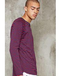 Forever 21 | Purple Stripe Knit Tee for Men | Lyst