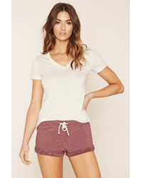 Forever 21 | Pink Heathered Pj Shorts | Lyst