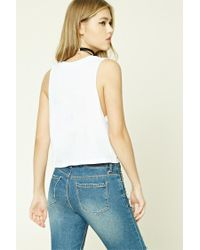 Forever 21 - White Take A Hike Graphic Muscle Tee - Lyst