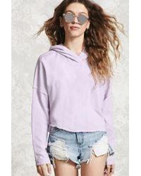 Forever 21 | Purple Loop Knit Hoodie | Lyst