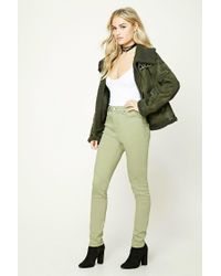 Forever 21 - Green Contemporary Skinny Jeans - Lyst