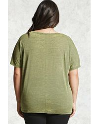 Forever 21 - Green Plus Size Faded Burnout Top - Lyst