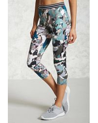 Forever 21 | Multicolor Active Abstract Capri Leggings | Lyst