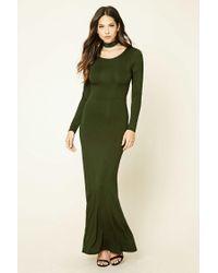 Forever 21 | Green Crisscross-back Maxi Dress | Lyst