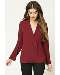 Forever 21 | Red Double-breasted Blazer | Lyst