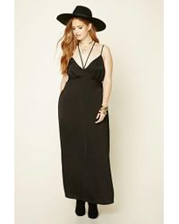 bf51fcac44d Lyst - Forever 21 Plus Size Strappy Maxi Dress in Black
