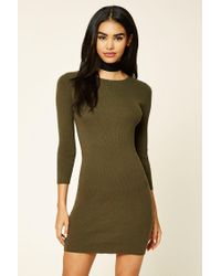 Forever 21 | Green Bodycon Mini Dress | Lyst