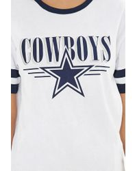 Forever 21 Blue Nfl Dallas Cowboys Ringer Tee