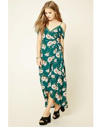 Forever 21   Green Floral Print Maxi Dress   Lyst