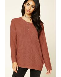 Forever 21 - Multicolor Purl Knit Cutout Sweater - Lyst