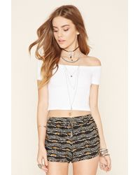 Forever 21 - Black Abstract Print Dolphin Shorts - Lyst
