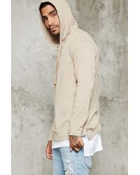 Forever 21 | Natural Cotton-blend Hooded Tee for Men | Lyst
