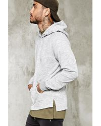 Forever 21   Gray Marled Knit Hoodie for Men   Lyst