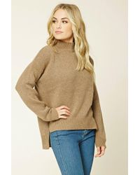 Forever 21 | Natural Contemporary High-neck Sweater | Lyst