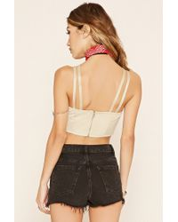 Forever 21 - Natural Faux Suede Cropped Cami - Lyst