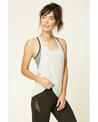 Forever 21 | Gray Active Braided T-back Tank | Lyst