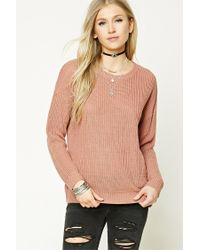 Forever 21 | Purple Ribbed Knit Sweater | Lyst