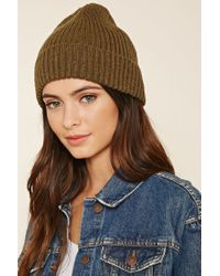 Forever 21 | Green Marled Knit Beanie | Lyst