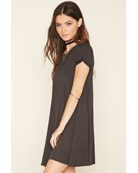 Forever 21 - Black French Terry T-shirt Dress - Lyst