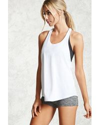 Forever 21 | White Active Braided T-back Tank | Lyst