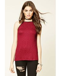 Forever 21 - Red Burnout Longline Cami - Lyst