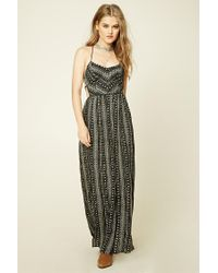 Forever 21 | Black Southwestern Print Maxi Dress | Lyst