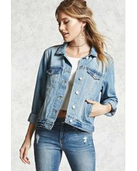 Forever 21 | Blue Contemporary Denim Jacket | Lyst