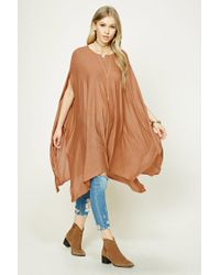 Forever 21 | Multicolor Draped Sweater Poncho | Lyst
