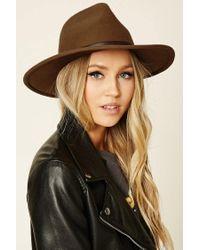 Forever 21 | Brown Felt Fedora Hat | Lyst