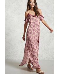 Forever 21 | Pink Paisley Print Maxi Dress | Lyst