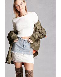 Forever 21 | Blue Rehab Sweater-hem Denim Skirt | Lyst