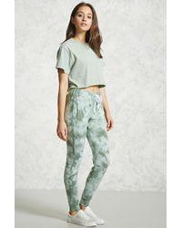 Forever 21 | Green Tie-dye Drawstring Pants | Lyst