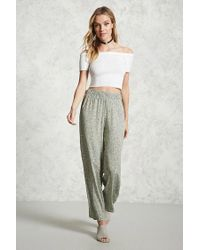 Forever 21   Gray Floral Print Palazzo Pants   Lyst