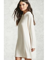 Forever 21 | Multicolor Boxy Hooded Sweater Dress | Lyst