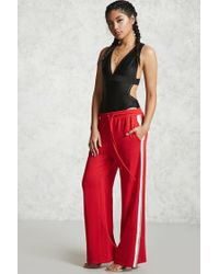 Forever 21 | Red Side-stripe Sweatpants | Lyst