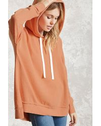 Forever 21 | Orange Contemporary Acid Wash Hoodie | Lyst