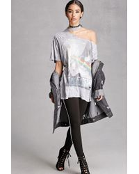 Forever 21 - Gray Distressed Pink Floyd Band Tee - Lyst