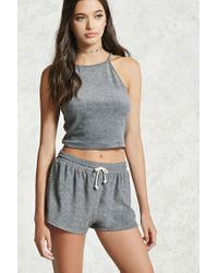 Forever 21 | Gray French Terry Dolphin Shorts | Lyst
