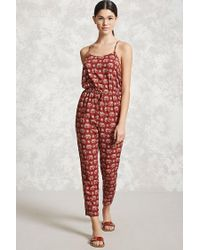 Forever 21 | Red Elephant Print Jumpsuit | Lyst