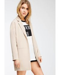Forever 21 - Natural Open-front Coat - Lyst