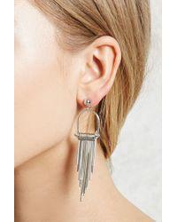 Forever 21 - Metallic Matchstick Drop Earrings - Lyst