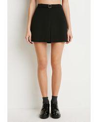 Forever 21 - Black Kick-pleat Mini Skirt - Lyst