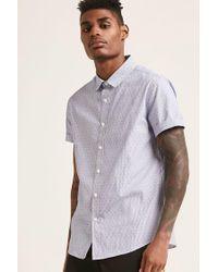 Forever 21 - Blue Pinstripe Geo Shirt for Men - Lyst