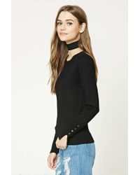 Forever 21 - Black Crew Neck Sweater - Lyst