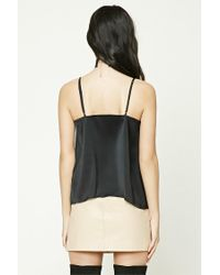 Forever 21 - Black Satin Cami Top - Lyst